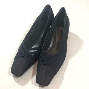 Stuart Weitzman Dark Navy Fabric Slip On